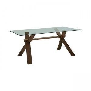 Dom τραπέζι ξύλινο σε smoke beech 160X90cm | Echo Deco| EchoDeco