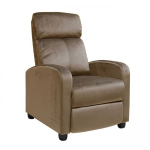 Porter πολυθρόνα relax με βελούδινο ύφασμα σε camel απόχρωση 68x86x99  εκ
