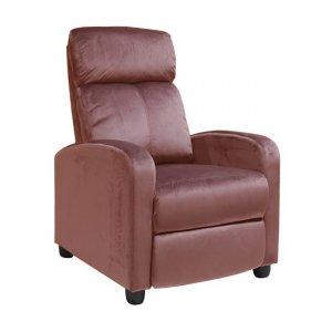 Relax Porter πολυθρόνα με βελούδινο ύφασμα σε antique pink απόχρωση 68x86x99  εκ