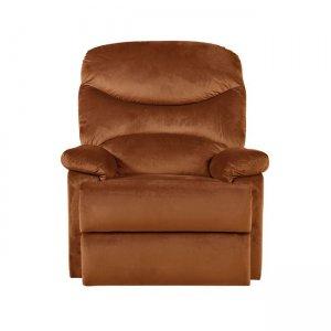 Luisa πολυθρόνα relax με κεραμιδί βελούδινο ύφασμα 80x90x99 εκ