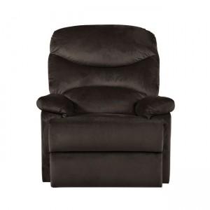 Relax πολυθρόνα Luisa με βελούδινο ύφασμα σε σκούρο καφέ χρώμα 80x90x99 εκ