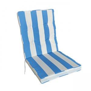 Cord χαμηλό μαξιλάρι σε μπλε ριγέ απόχρωση 101x46x85 εκ