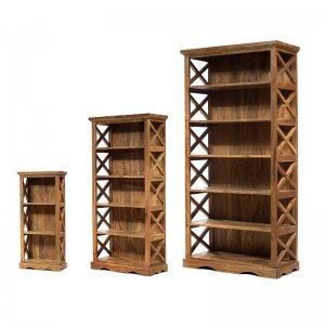 Ξύλινες βιβλιοθήκες σε τρία μεγέθη σετ των τριών σ&e