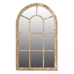 Vintage καθρέπτης τοίχου Ada με ξύλινο πλαίσιο σε φυσική απ