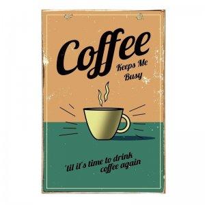 Καφές και Σοκολάτα Ξύλινοι Vintage Πίνακες για Coffee Lovers