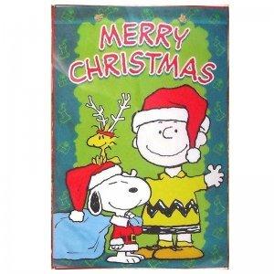 Merry Christmas Snoopy Vintage Χριστουγεννιάτικο Ξύλινο Πινακάκι 20x30cm