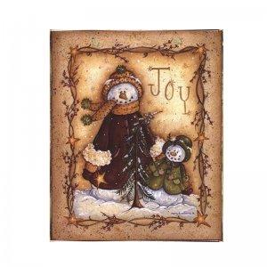 Joy Vintage Χριστουγεννιάτικο Ξύλινο Πινακάκι 20x25cm