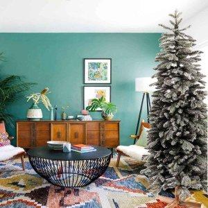 EchoArcalod χιονισμένο Χριστουγεννιάτικο δέντρο με ξύλινο κορμό και ύψος 240 εκ