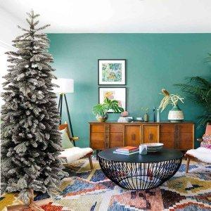 EchoArcalod χιονισμένο Χριστουγεννιάτικο δέντρο με ξύλινο κορμό και ύψος 180 εκ