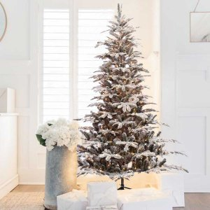 EchoApf Χριστουγεννιάτικο δέντρο χιονισμένο Mix PE 240 εκ