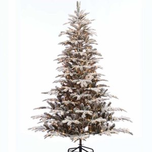 EchoApf χιονισμένο Χριστουγεννιάτικο δέντρο με 650 led και ύψος 270 εκ