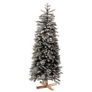 EchoArcalod χιονισμένο Χριστουγεννιάτικο δέντρο με ξύλινο κορμό και ύψος 210 εκ