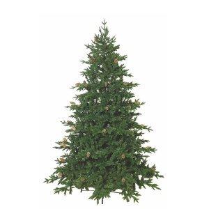 EchoOlym Χριστουγεννιάτικο δέντρο full plastic με κουκουνάρια και ύψος 180 εκ.