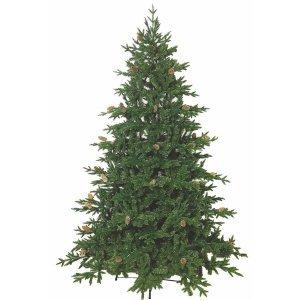 EchoOlym Χριστουγεννιάτικο δέντρο full plastic με κουκουνάρια και ύψος 210 εκ.