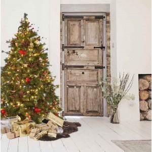 Χριστούγεννα του δάσους -  Πρόταση στολισμού με BrownFir  Δέντρο, 140  Στολίδια και 480 Led σε 3 ύψη