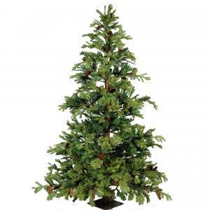 EchoMetrom Χριστουγεννιάτικο δέντρο Full Plastic με ξύλινο φυσικό κορμό 240 εκ