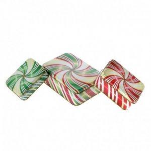 Πολύχρωμα μεταλλικά Κουτίά σετ 3 τεμάχια Πράσινο - Κό&kappa