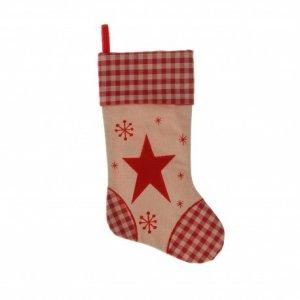 Μπότα με Αστέρι Κόκκινη-Εκρού 45 εκ Σετ 2