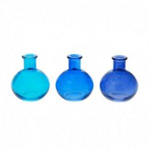 Μπουκαλάκια Γυάλινα Σετ 6  τεμ Μπλε 6.5x7 εκ