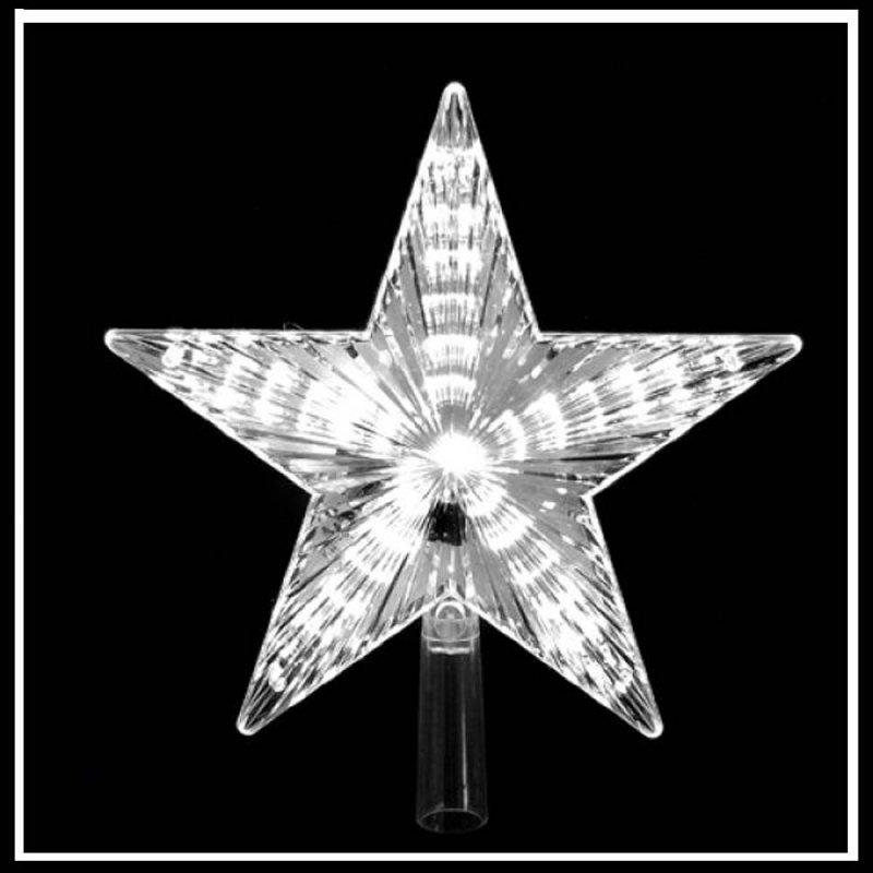 Αστέρι Κορυφή με Led Λευκό 22 εκ