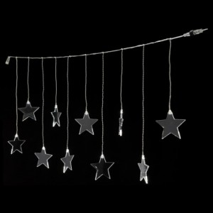 Εξωτ.Χώρου 10 Αστέρια Κουρτίνα Επεκτεινόμενο Ζεστό Φως