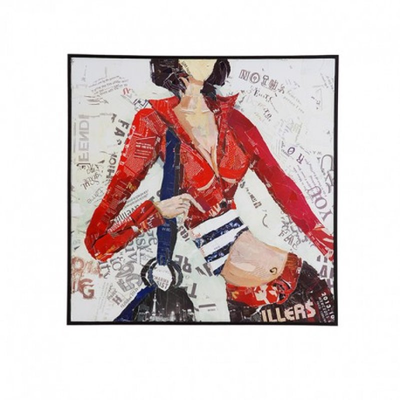 Πίνακας Κολάζ 80Χ80 Με Γυναίκα