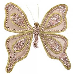 Πεταλούδα σαμπανί βελουτέ πέρλα 20εκ