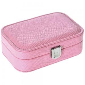 Μπιζουτιέρα σε ροζ παστέλ με κούμπωμα 15x10x12 εκ.