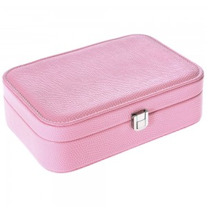 Κουτί μπιζουτιέρα παραλληλόγραμμο σε ροζ χρώμα 22x15x7 εκ.