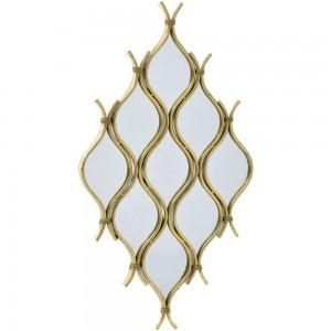 Classic χρυσός μεταλλικός καθρέπτης διακοσμητικός 54x98 εκ