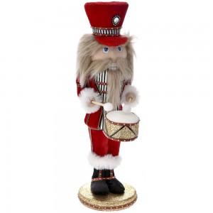 Διακοσμητικός στρατιώτης με κόκκινα ρούχα και γούνα 12x12x40 εκ