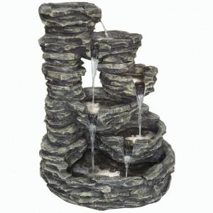 Συντριβάνι βράχος με πέντε φωτάκια 73x54x94 εκ
