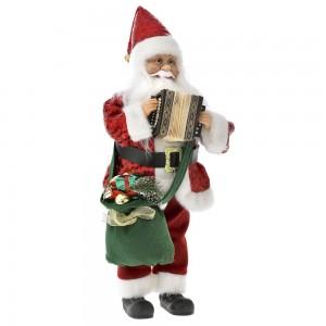 Χριστουγεννιάτικο  μουσικό διακοσμητικό με τον Άγιο Βασίλη 45 εκ