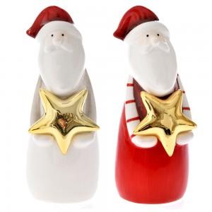 Επιτραπέζιο διακοσμητικό Άγιος Βασίλης σε δύο διαφορετικά σχέδια σετ των δύο τεμαχίων 5x14 εκ