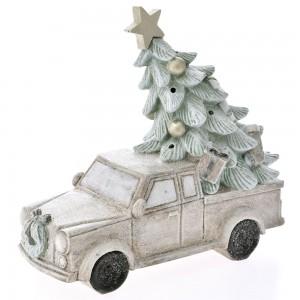 Χριστουγεννιάτικο διακοσμητικό φορτηγάκι με δέντρο 29x25 εκ