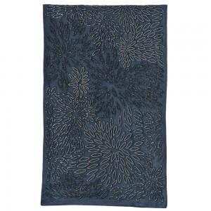 Βελούδινο μπλε ράνερ με χάντρες 43x130 εκ