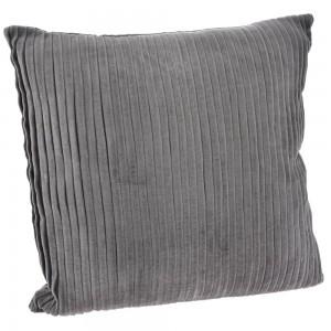 Μαξιλάρι γκρι κοτλέ από βελούδο 45x45 εκ