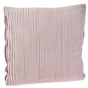 Ροζ βελούδινο μαξιλάρι κοτλέ 45x45 εκ