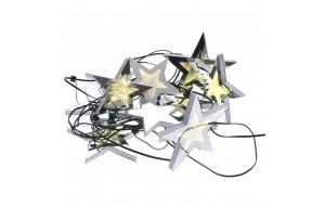 Χριστουγεννιάτικη φωτιζόμενη γιρλάντα με 3D αστέρια μήκους 5 μ