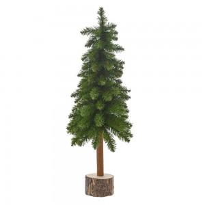 Πράσινο Χριστουγεννιάτικο δέντρο με ξύλινο κορμό 65 εκ
