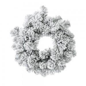 Χριστουγεννιάτικο χιονισμένο στεφάνι 40 εκ