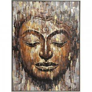 Πίνακας ζωγραφικής με το πορτραίτο του Βούδα σε χρυσή κορνίζα 95x125 εκ