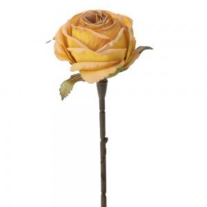 Διακοσμητικό πορτοκαλί τριαντάφυλλο σετ των δώδεκα τεμαχίων 28 εκ