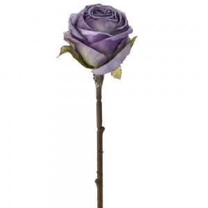 Διακοσμητικό μωβ τριαντάφυλλο σετ των δώδεκα τεμαχίων 28 εκ