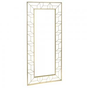 Classic μεταλλικός καθρέφτης σε χρυσό χρώμα 60x138 εκ