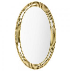 Οβάλ μεταλλικός καθρέφτης σε χρυσό χρώμα 53x86 εκ