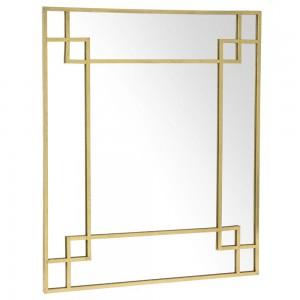 Μεταλλικός διακοσμητικός καθρέφτης σε χρυσό χρώμα 80x95 εκ