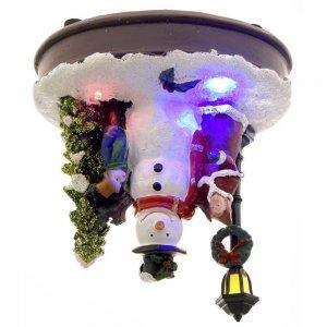 Φωτιζόμενο Χριστουγεννιάτικο σκηνικό χιονάνθρωπος 12x9x14 εκ