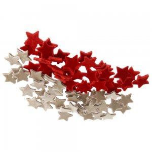 Σετ 320 αστέρια υφασμάτινα σε κόκκινο και μπεζ 3εκ