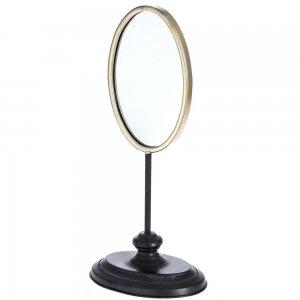Καθρέφτης επτραπέζιος σε xρυσαφί xρώμα 21x15x46εκ